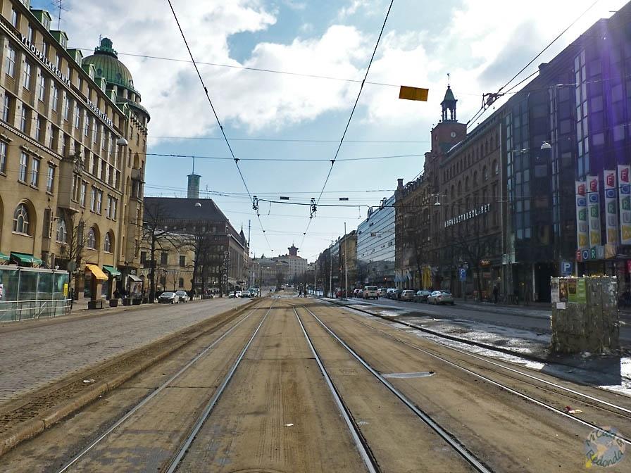 No venían ni los tranvías por el frío, Helsinki