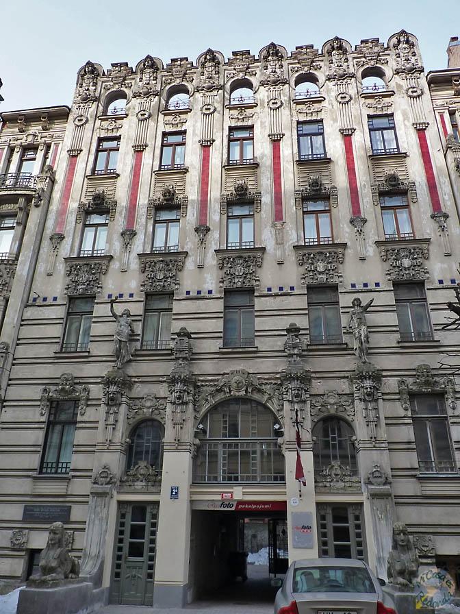 Increibles fachadas de Art Nouveau, Riga