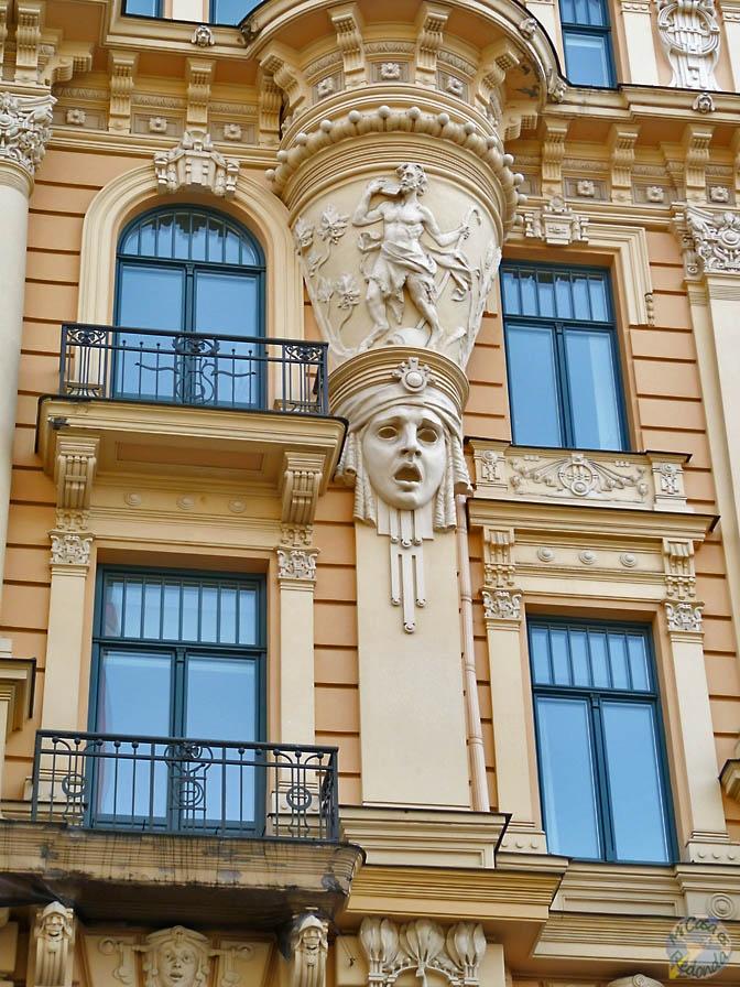 Una de las más fotografiadas, Art Nouveau en Riga