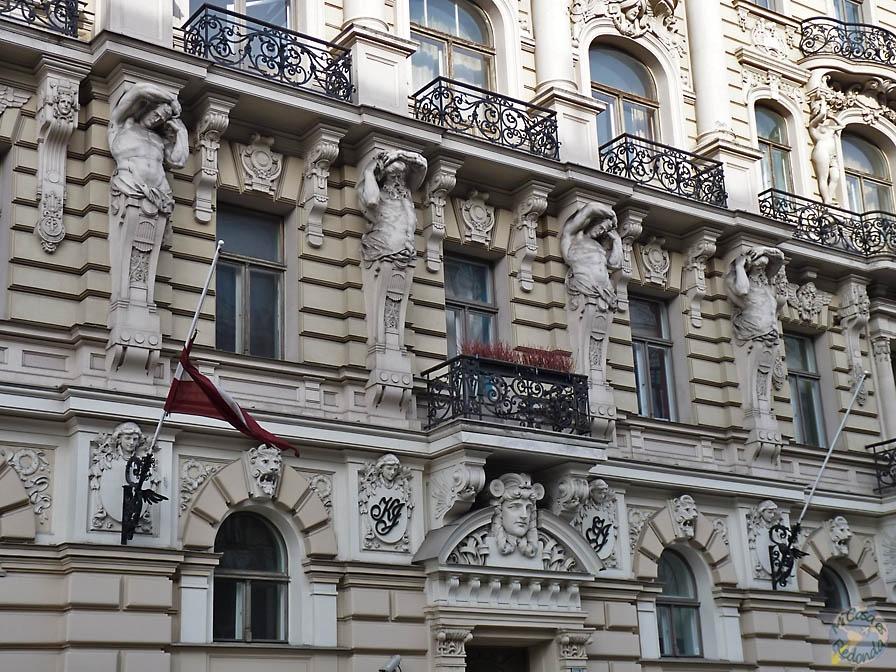 Fachadas sobrecargadas, Riga