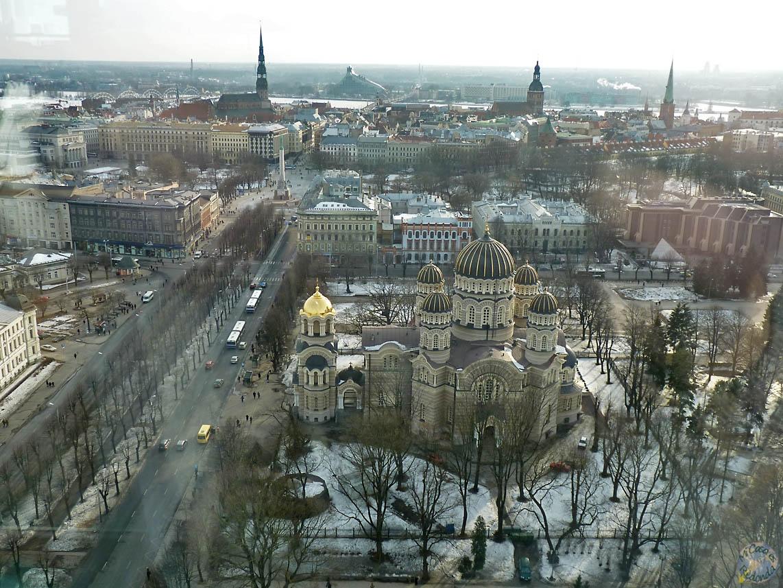 Vistas de Riga desde el Skyline Bar del hotel Radisson