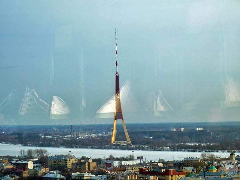 La torre de televisión, la estructura más alta de la UE, Riga