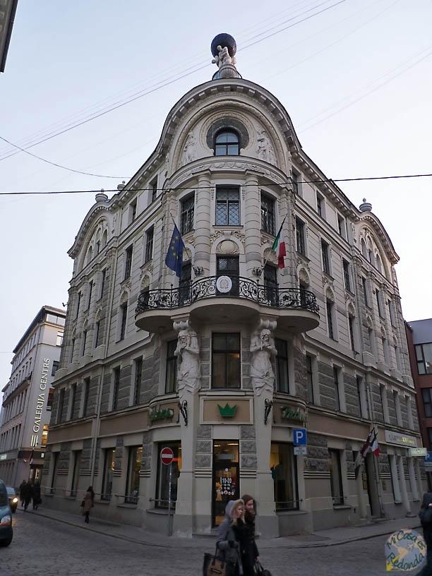 Algo de Art Nouveau también por el centro de Riga