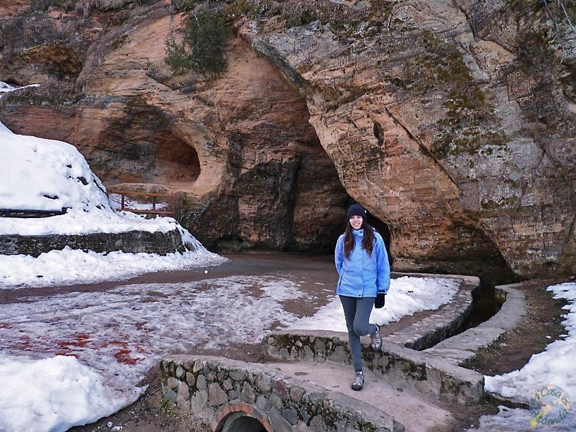 Cueva de Gutmana, donde se ambienta la Rosa de Turaida. Sigulda