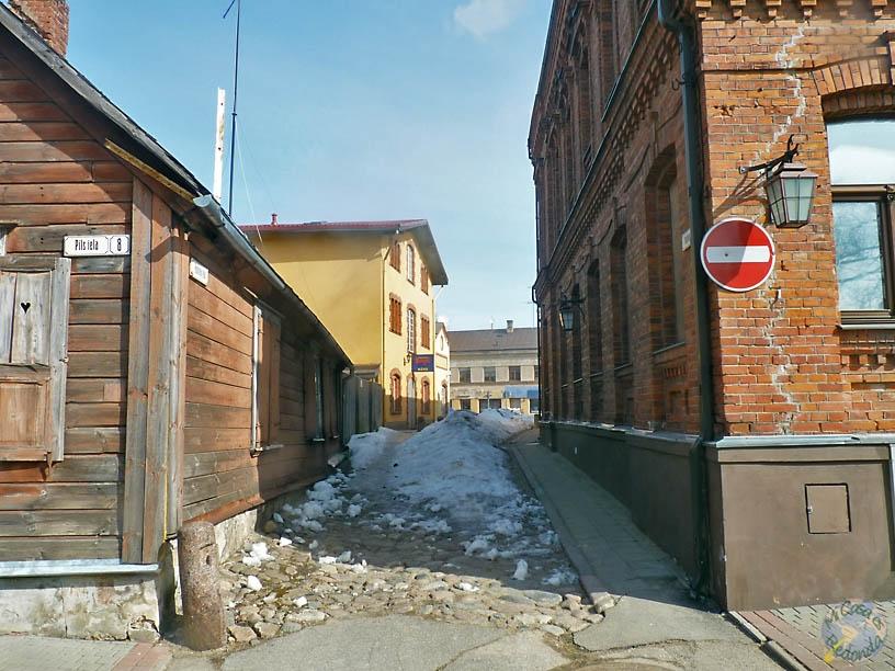 Calles (con nieve) de Cēsis