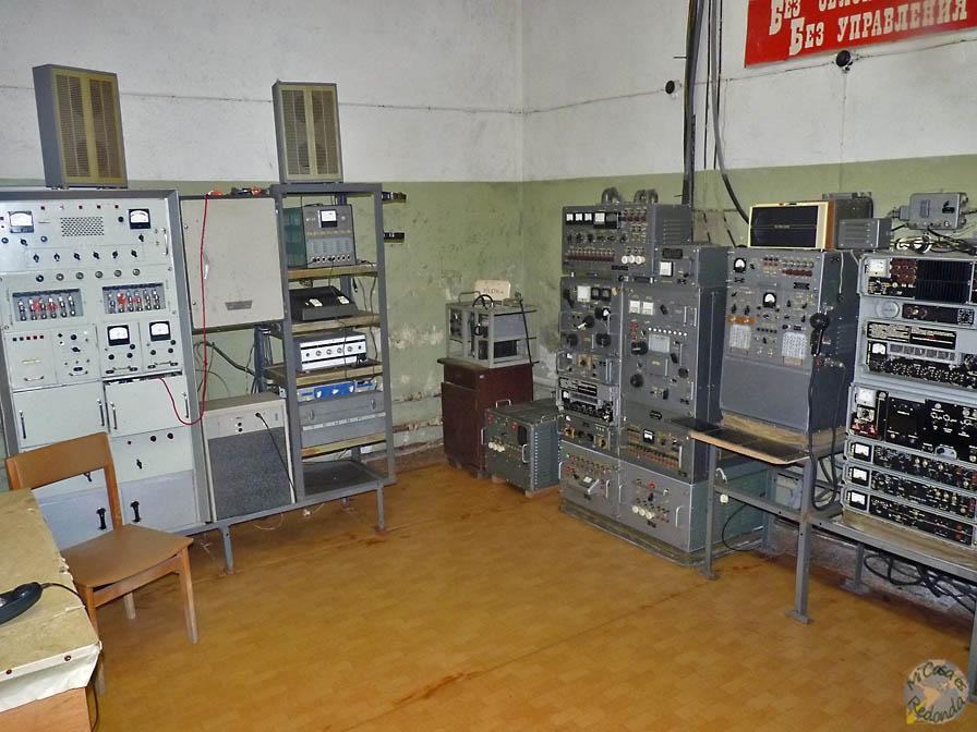 Interior del Bunker soviético secreto, cerca de Ligatne