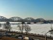 Puente de Riga, el Rio Daugava congelado
