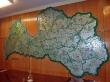 Sala con gran mapa en el bunker, cerca de Ligatne