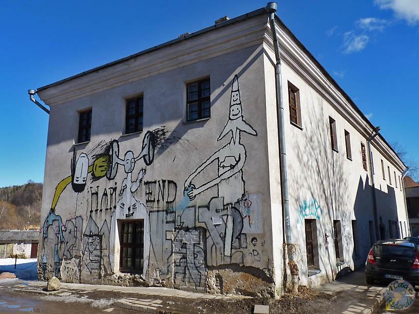 Grafitis en Uzupis, Vilnius