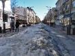 Calles heladas de Šiauliai
