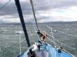 Navegando en velero cerca de Ushuaia