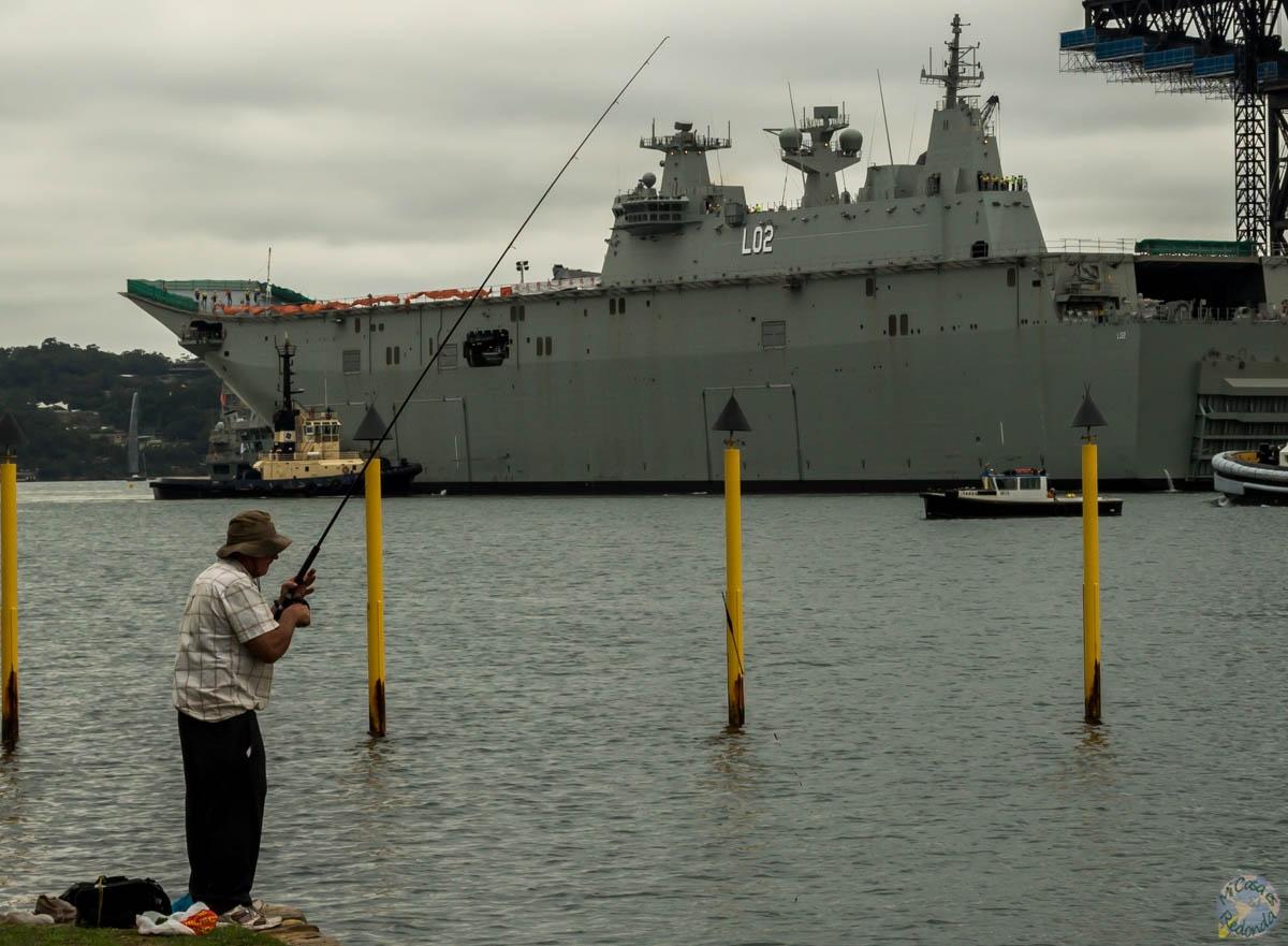 Pescando buques de guerra, Sydney