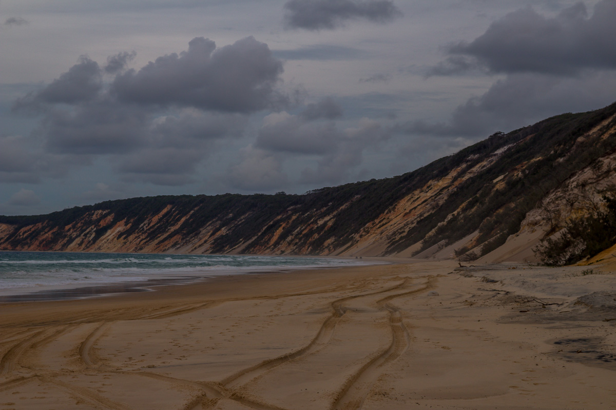 Interminable playa de Rainbow Beach