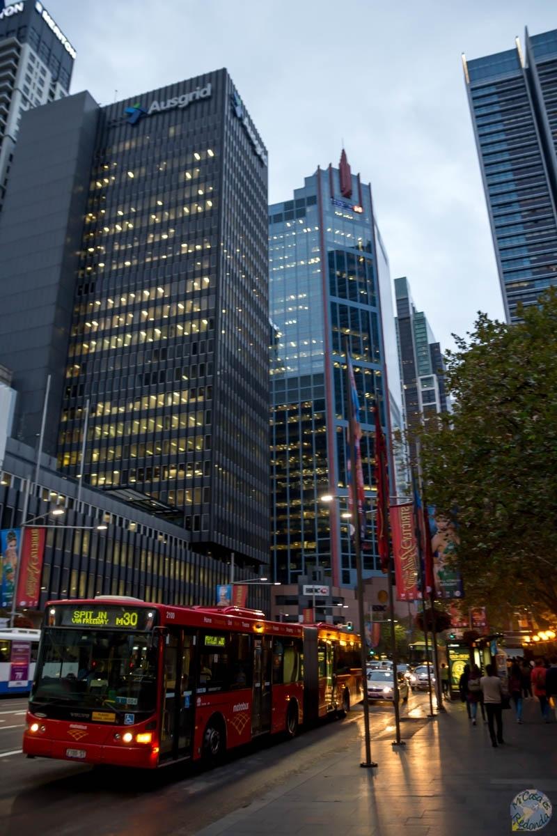 Atardeciendo en George Street, Sydney