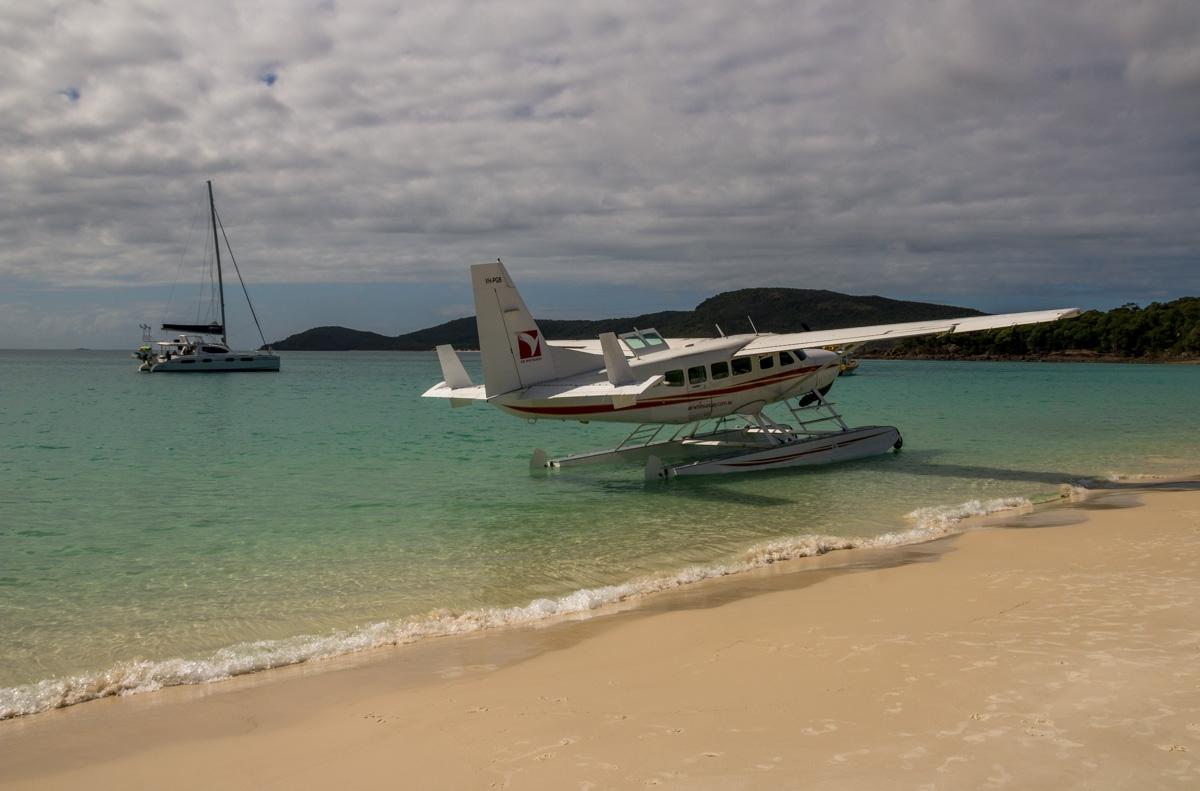 Me dejaron aparcar mi avión en Whitehaven Beach
