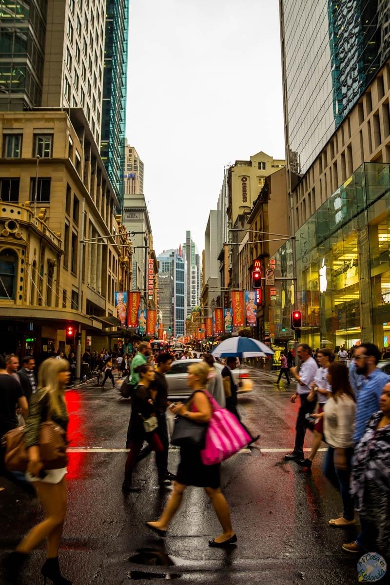 Caminando por el CBD (distrito financiero) de Sydney