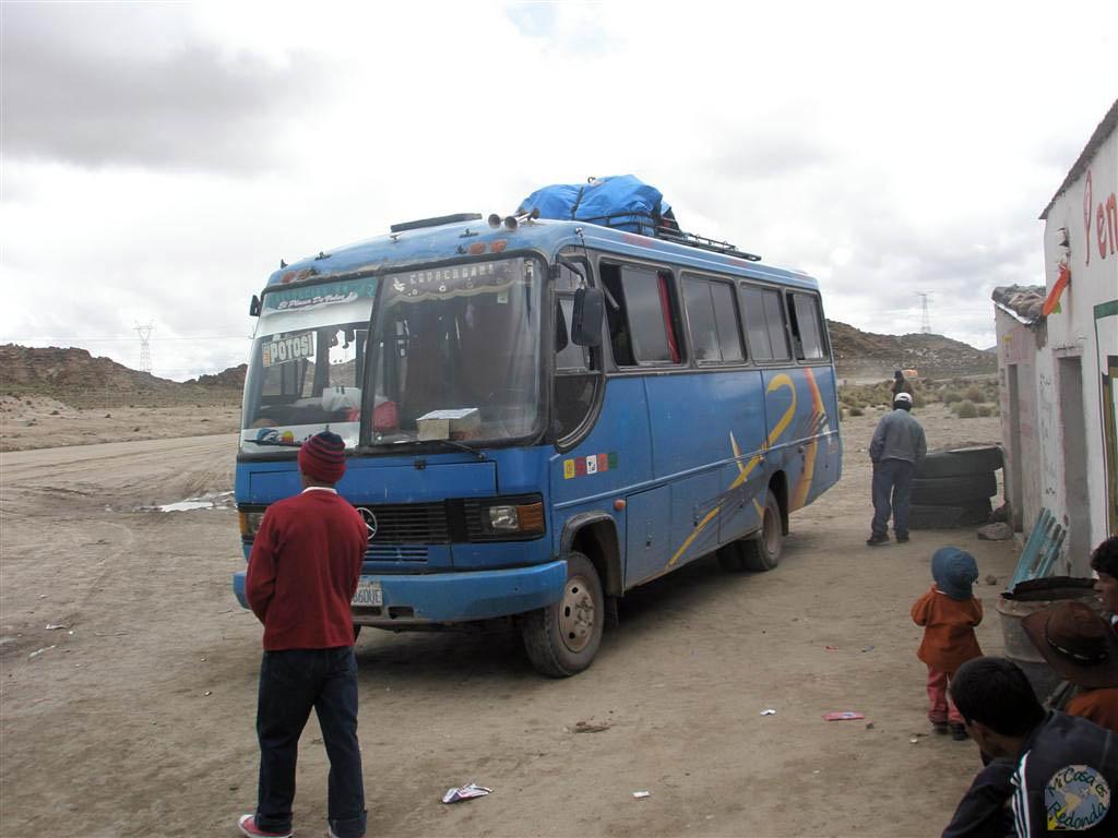 Parada del bus para estirar las piernas