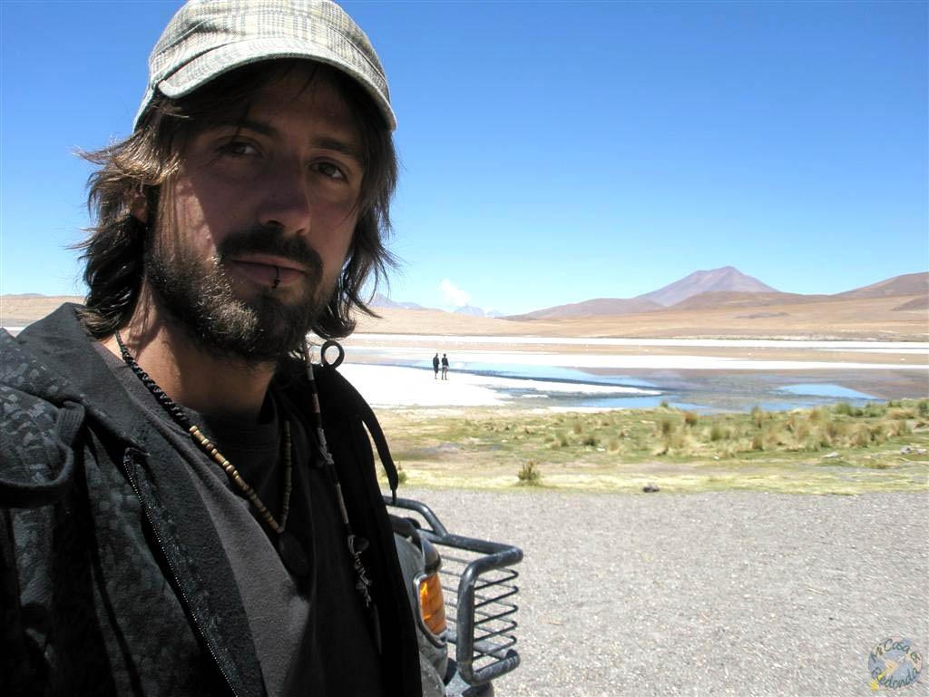 Viendo flamencos por Uyuni