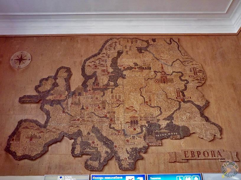 Europa en el mural del aeropuerto de sofia