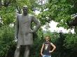 Durán y sus fotos imitando a las estatuas