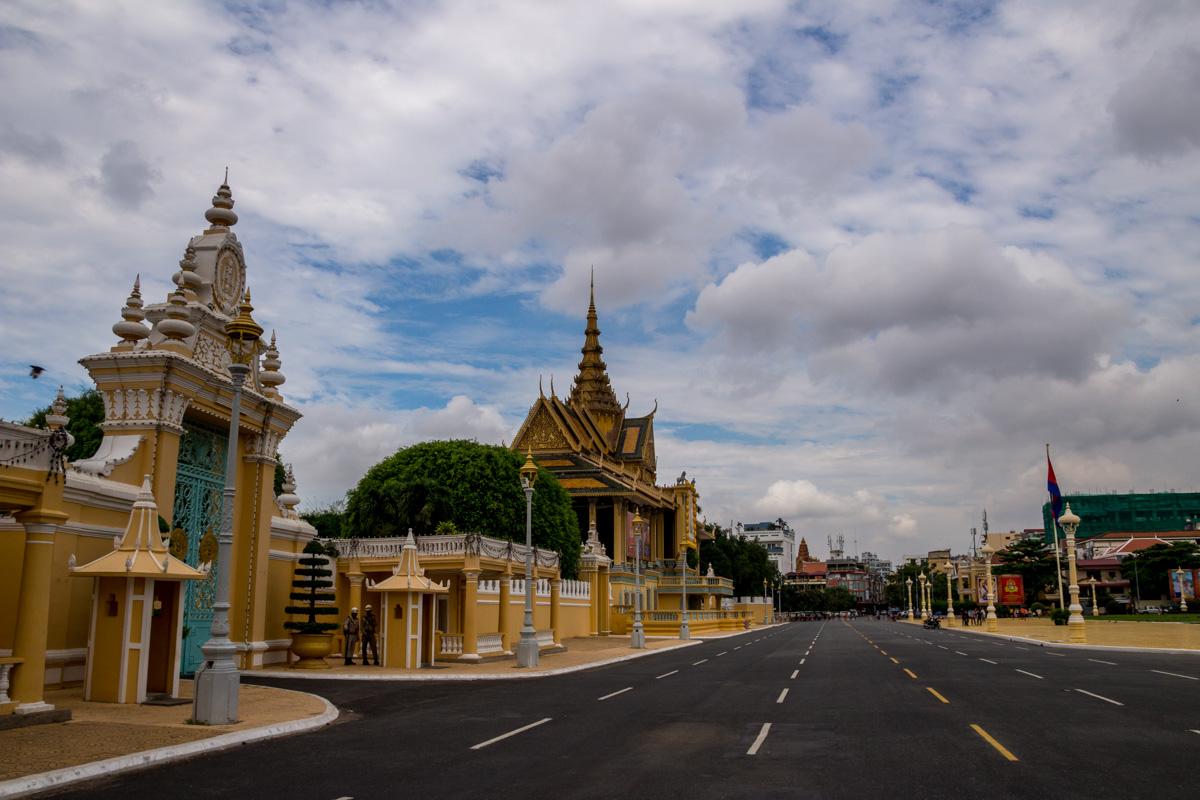 Las afueras del palacio  real, Phnom Penh