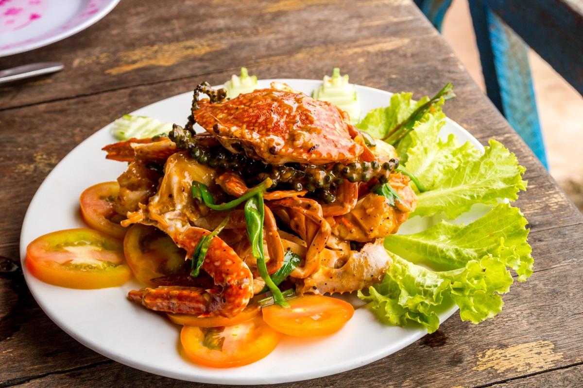 Los famosos cangrejos de Kep