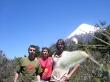 Con el Regue y Eli cerca de Petrohué, el Osorno al fondo