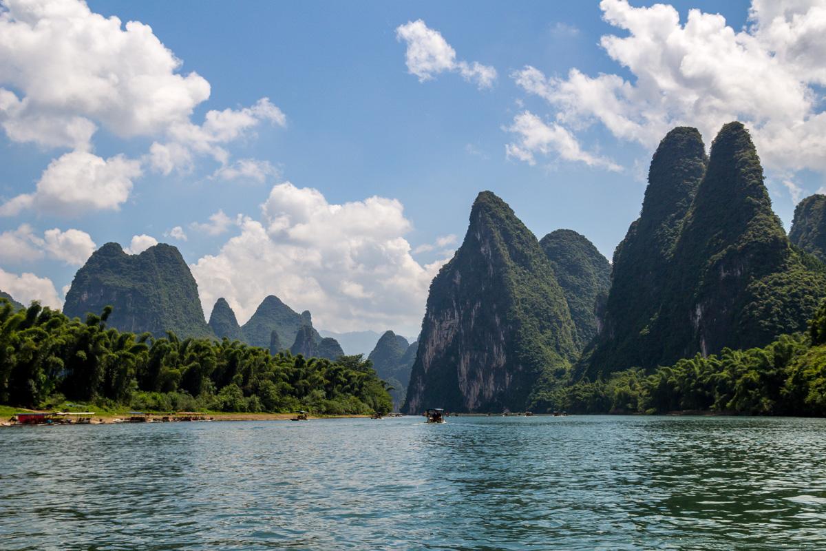 Paisajes espectaculares en el río Li