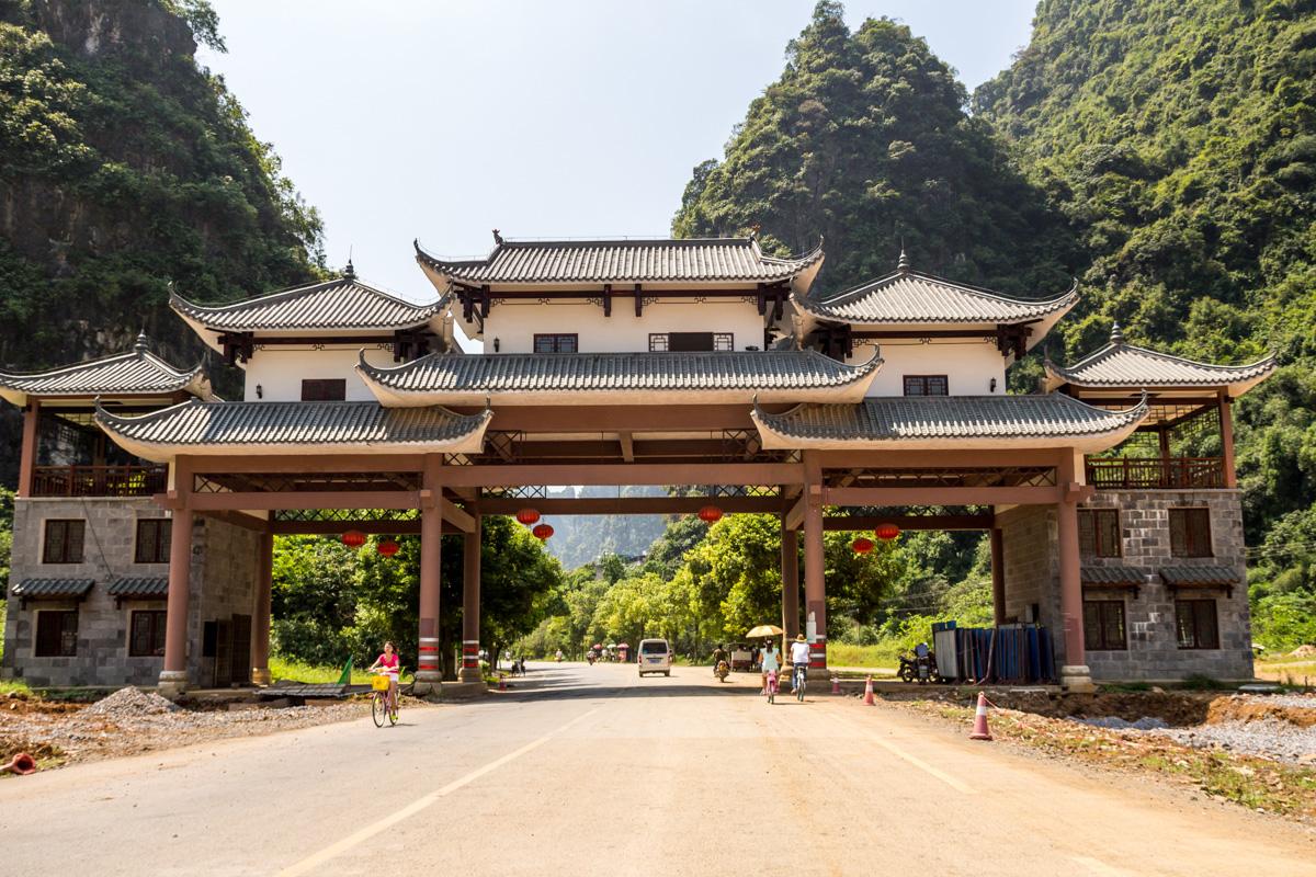 El límite del area de Yangshuo