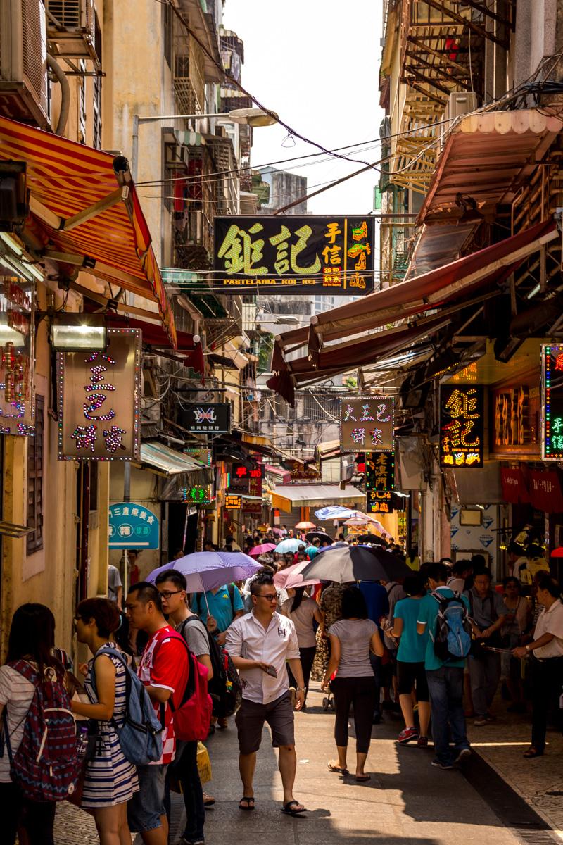 Calles y comercios, Macao