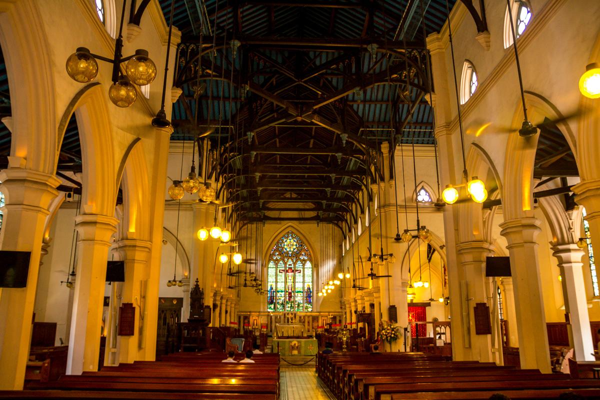 Interior de la catedral de Hong Kong
