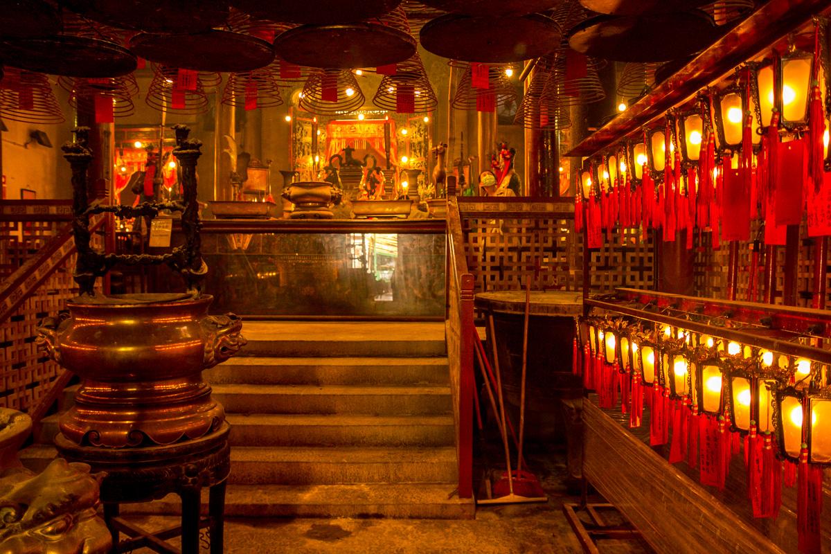 Templos e incienso, Hong Kong