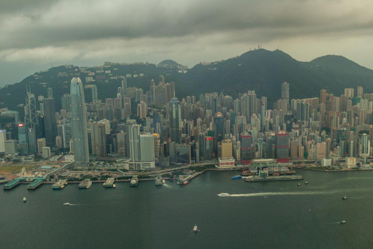 Hong Kong island, tarde tormentosa