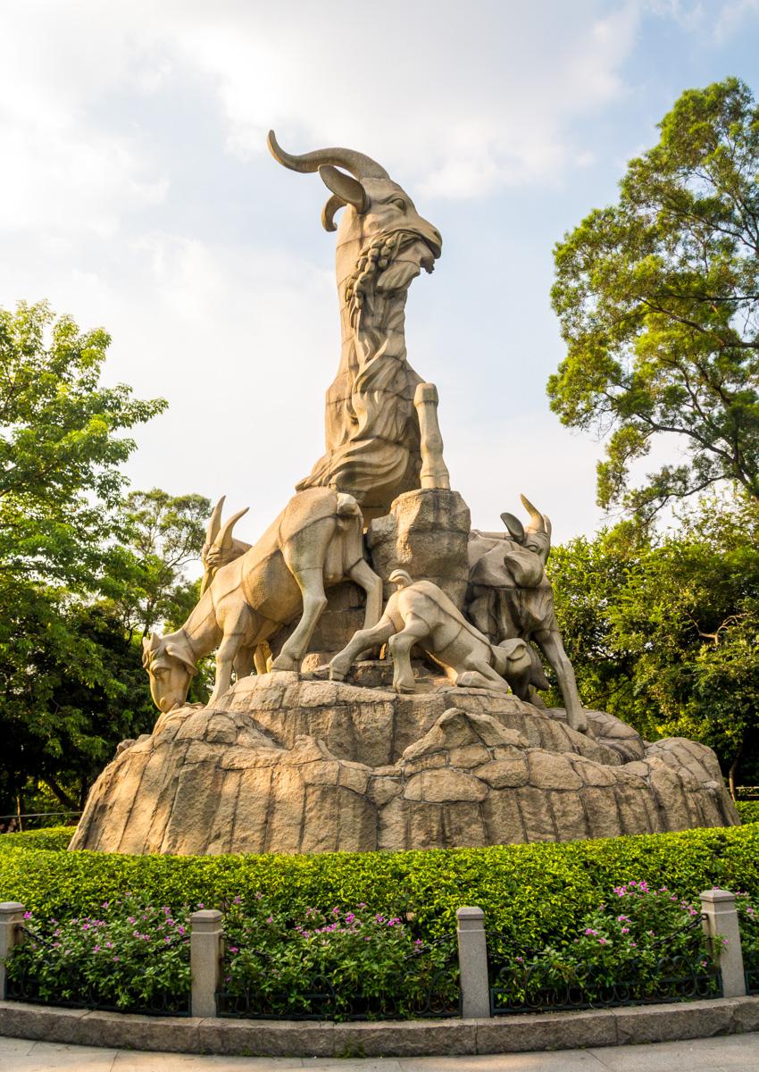 Las 5 cabras, símbolo de Guangzhou