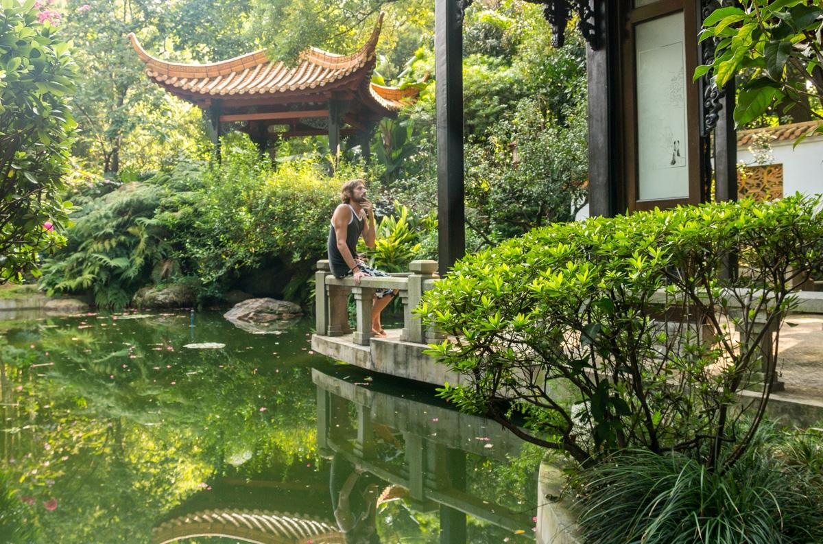 Remanso de paz en medio de la locura de Guangzhou