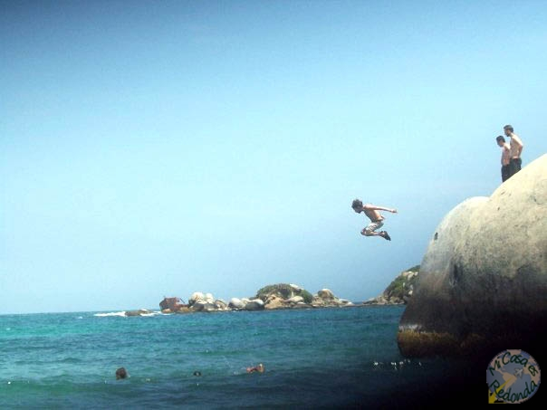 Saltando al agua!