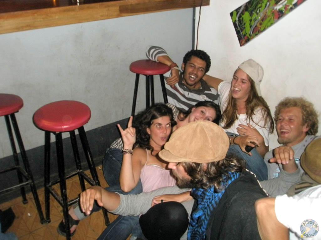 En pleno apogeo de la fiesta, en Monteverde