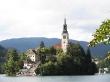La iglesia en el centro del lago Bled