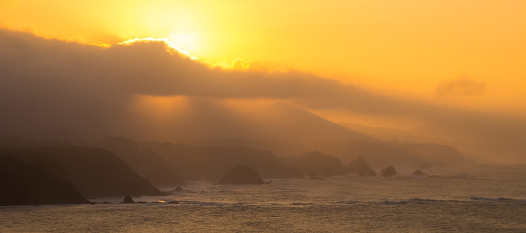Atardecer costa oeste Asturias