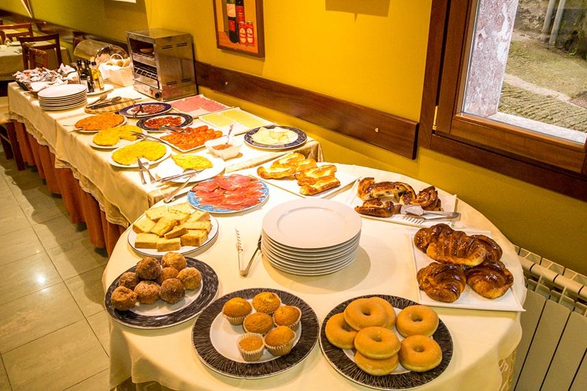 desayuno del Gran Hotel Cela