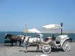 Paseo marítimo con calesa en Chania, Creta