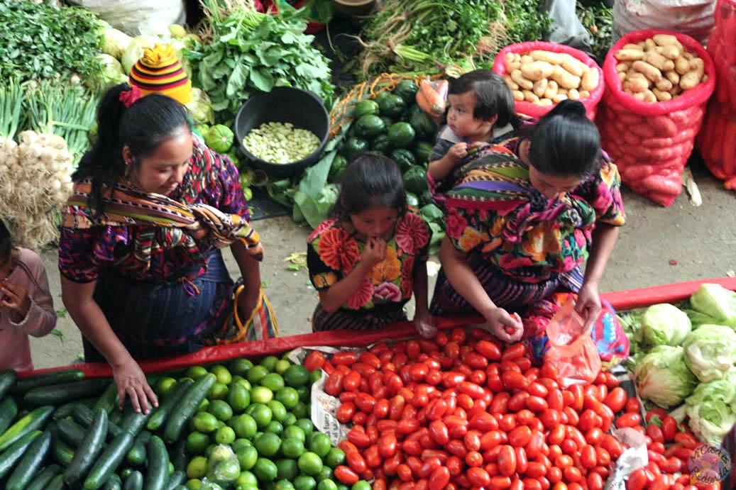 En el mercado de Chichicastenango