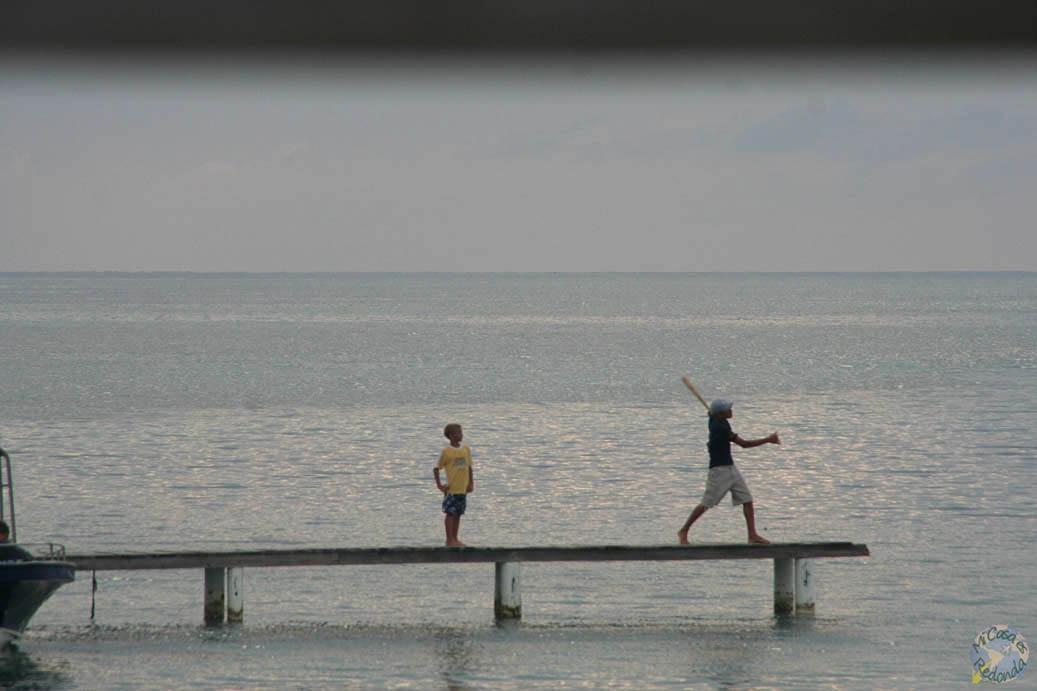 Beisbol contra el mar