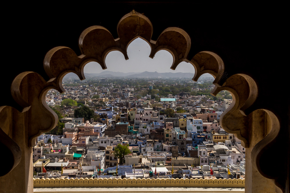 Udaipur desde el palacio