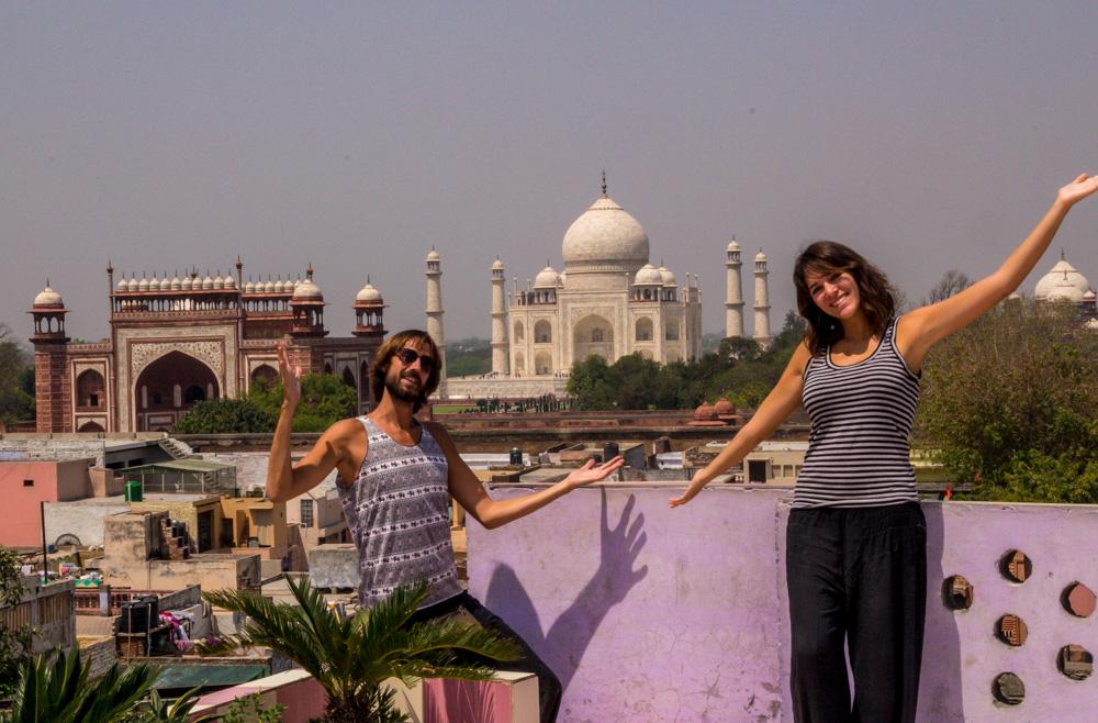 Volviendo a la azotea en la que estuve 4 años atrás, Agra