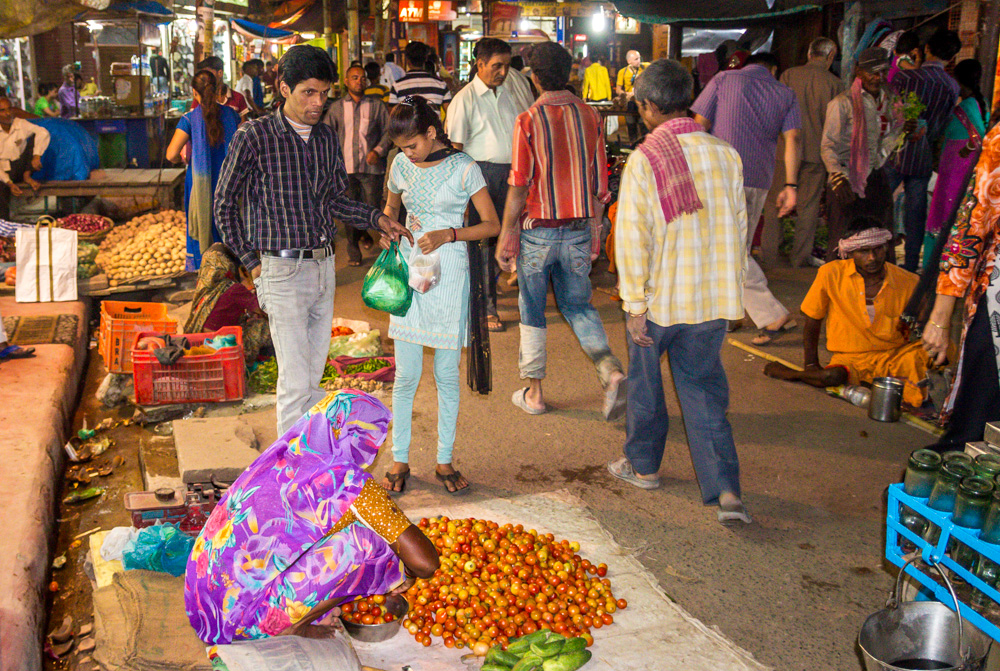 Mercados nocturnos, Varanasi