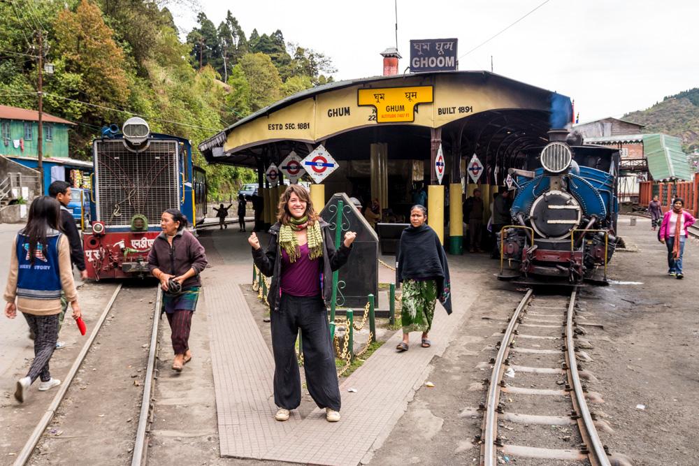 Estación de Ghum, en el Toy Train