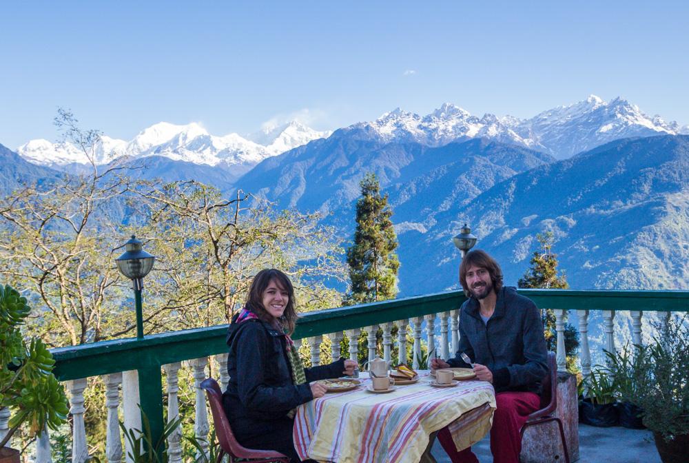 Deasyunando frente al Himalaya