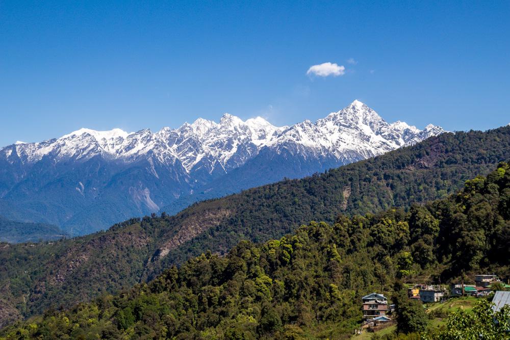 Los paisajes de Sikkim y los grandes picos