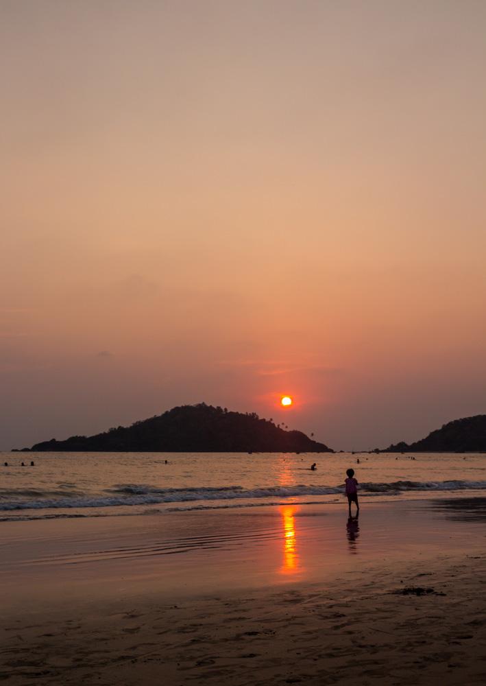 Atardecer en Palolem, Goa